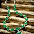 <b>Jadeite</b> and diamond pendent necklace