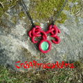 Collier elfique rouge et vert (11)
