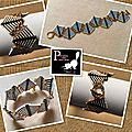 Bracelet triangles en <b>peyote</b>