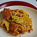 Tarte sans pâte au curry