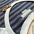 Robe maille rayée bleu marine grise2