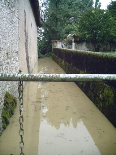 Pendant ce temps, L'Echard entre l'église et la propriété Piton.