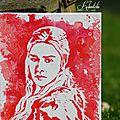 <b>Daenerys</b> du Typhon, la mère des Dragons, en peinture