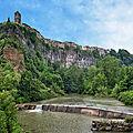 Castellfollit de la Roca : sur une coulée basaltique