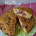 Gâteau moelleux coco, framboise