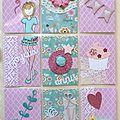 Pocket Letter Pastel & girly d'anniversaire