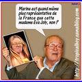 Le Pen, préfèrant sans doute l'héritage génétique, tacle <b>Eva</b> <b>Joly</b>.