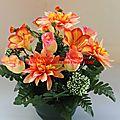 Fleurs rameaux : large gamme de fleurs tergal pour le cimetière