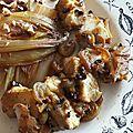 Dés de cabillaud marinés, cuits au wok, parfumés au poivre timut