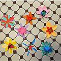Fleurs en papier pour occuper les jours de pluie