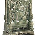 A Longquan celadon '<b>qilin</b>' screen table, Yuan dynasty (1271-1368)