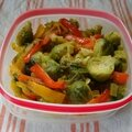 <b>Lunchbox</b> poivrons et choux de Bruxelles rôtis / Bell peppers and roasted Brussels sprouts <b>lunchbox</b>