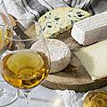 Fromages et <b>vins</b> blancs doux et fruités de Bordeaux