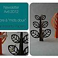 Newsletter avril 2012 : arbre à mots doux en papier