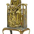French, Limoges, Late <b>12th</b>-<b>Early</b> <b>13th</b> <b>Century</b> style, Reliquary with St. Valerie holding her head