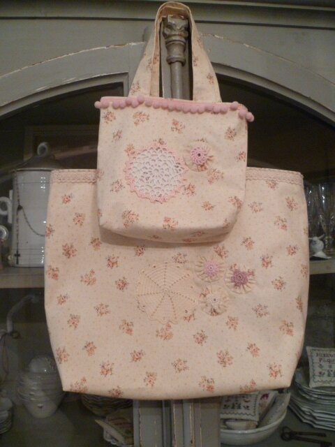 Set of 2 Bags Fully lined with vintage metis.