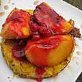 Tartelette perdue aux nectarines, gelée de groseilles / la plancha eno