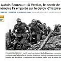<b>Verdun</b> : 1 commémoration conservatrice ?