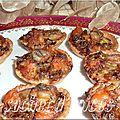 Mini-tartelettes aux poireaux et aux fruits de mer