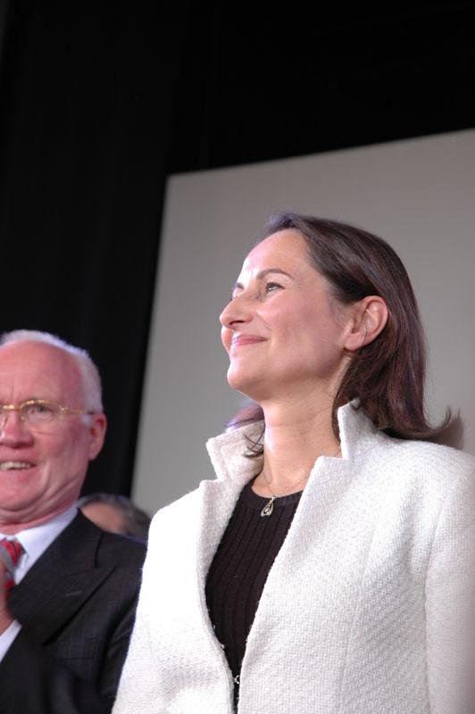 Meeting politique lors de la presidentielle 2007/2008.Segolene royale.