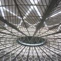 Une partie du toit de la gare des trains de Shanghai.