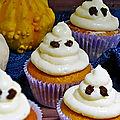 ,muffins <b>fantômes</b> à la citrouille