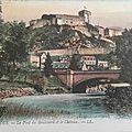 01 Lourdes - pont du boulevard et le chateau
