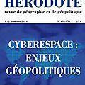 Cyberespace et géopolitique