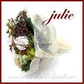bouquet de mariée roses stabilisées JULIE