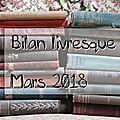 Mes lectures de mars 2018