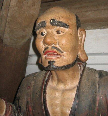 05. Détail de la statue du patriarche Buddhanandi,