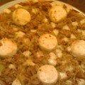 Pizza thon/p. de terre/chèvre