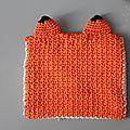 pochette renard crochet
