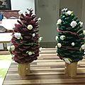Noël 2015 # sapins en pigne de pin #