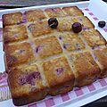 Gâteau aux cerises, amandes et ricotta