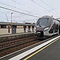 Bayeux 15 février 2020: première halte de l'OMNEO, le train tout neuf pour tous les Normands...
