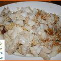 Mousses chou-fleur/brocolis, pommes dauphines, flétan gratiné aux noix de cajou pour le pat du réveillon de noël