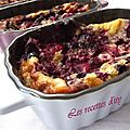 Clafoutis aux fruits rouge