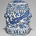 A Blue And White <b>Garden</b> Seat. Late Ming Dynasty, 16th-17th Century