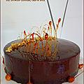 Entremets caramel & café sur brownie café & noix