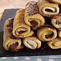 French toast roll ups, ou pain perdu roulé