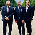 Frédéric Fougerat aux cotés de <b>Guillaume</b> <b>Gomez</b> et de Laurent d'Alterio / Palais Royal