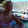 grèce lefkas taverne sur le port