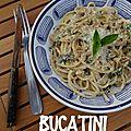 Bucatini aux oignons de trébons