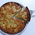 Flognarde (clafoutis) aux bananes et au lait de coco