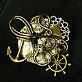 Petites broches steampunk influencé par l'univers de la piraterie