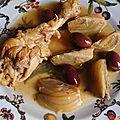 Tajine de poulet aux olives, aux fenouils & aux citrons confits