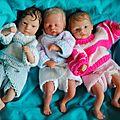 Les mini triplets: Lancelot,Lallie et Leroy.