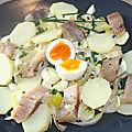 Salade d'endive, hareng, oeuf