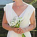 Collier mariage fin murmure avec perles de nacre ivoire